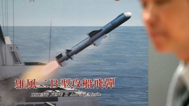 Тайвань випадково випустив ракету в бік Китаю Поштівка
