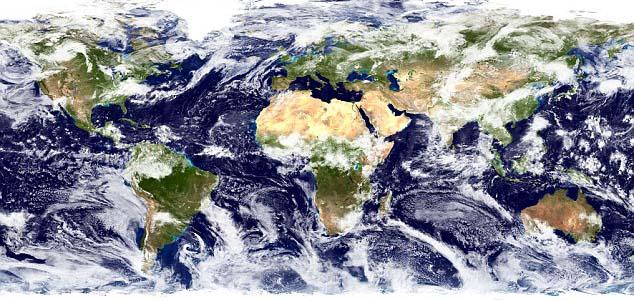 Через зміни клімату хмари зміщуються до полюсів Поштівка
