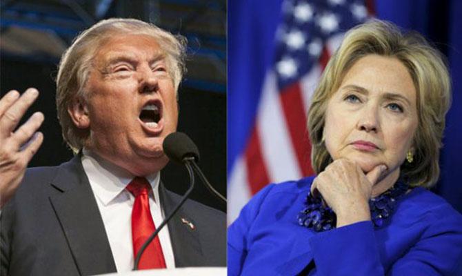 Вибори президента США: рейтинги Клінтон і Трампа зрівнялися Поштівка
