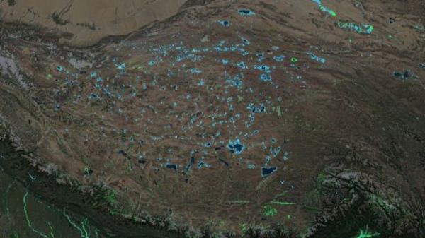 Прикладом наймасштабнішого природного обводнення стало Тибетське нагір'я