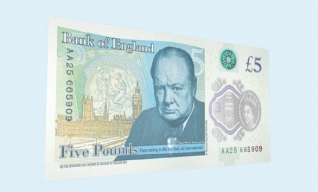 Банк Англії ввів в обіг першу пластикову банкноту Поштівка