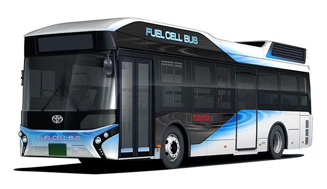 Автобус Toyota на водневих паливних елементах надійде у продаж на початку наступного року Поштівка