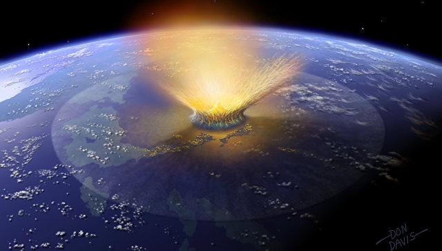 56 мільйонів років тому на Америку впала велика комета Поштівка