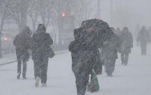В Україну йдуть сльні снігопади та хуртовини Поштівка