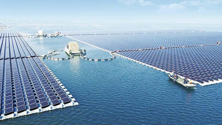 сонячна ферма на воді