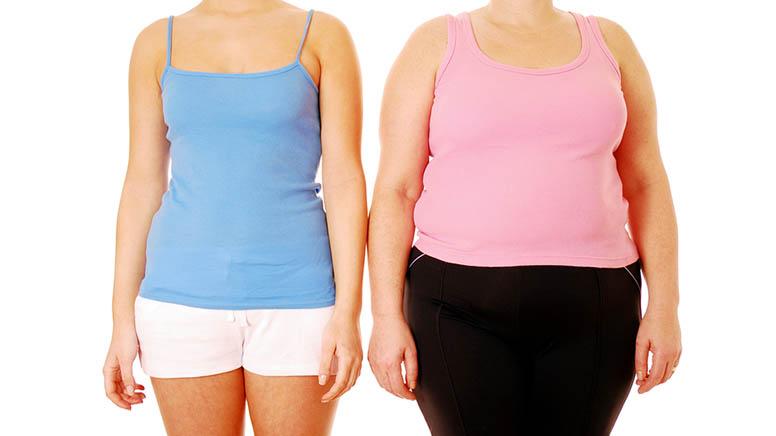 толстая и худая