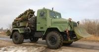 Землерийна машина на базі броньованого КрАЗу Поштівка