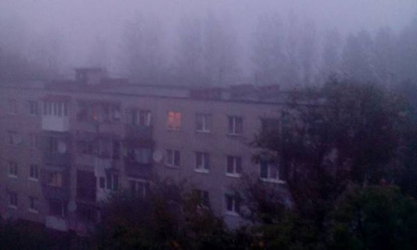 Львів у диму через пожежу торфовищ Поштівка
