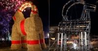 У Швеції знову спалили різдвяного козла Поштівка