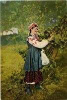 В садку. Поштівка, фото Й. Хмелевського 1890-х рр.