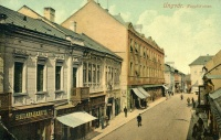 Великомостова вулиця (нині вул. Корзо) в Ужгороді. Поштівка 1911 року